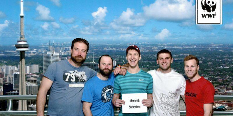 Monteith & Sutherland WWF CN Tower Climb team
